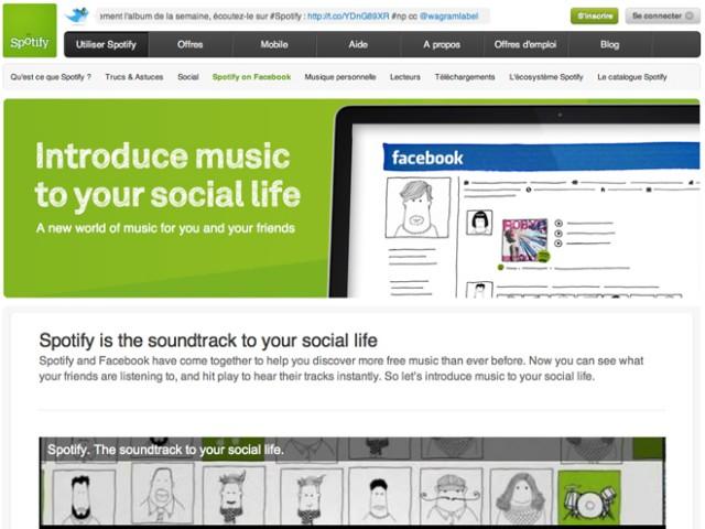 Spotify gagne 1 million d'utilisateurs grâce à Facebook !