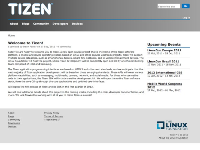 Tizen succède à Meego