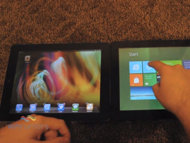 Vidéo : iPad / iOS 5 vs tablette tactile Windows 8
