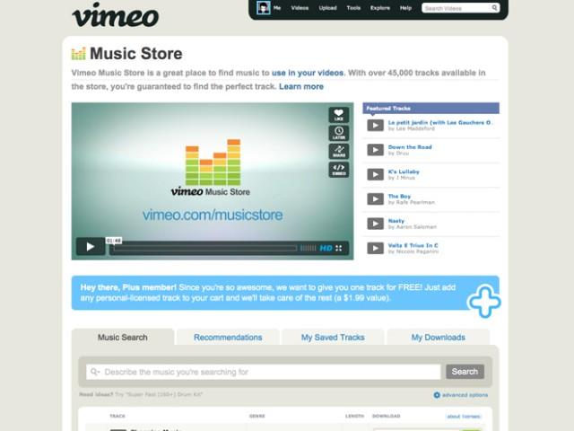 Vimeo Music Store, trouve la bande son de tes vidéos !