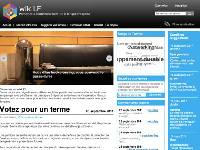 WikiLF, un wiki pour enrichir la langue française
