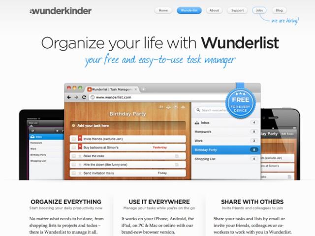 Wunderlist est disponible sur Linux !