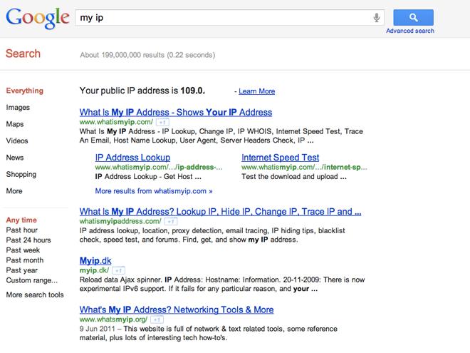 Google trouve tout, même ton adresse IP