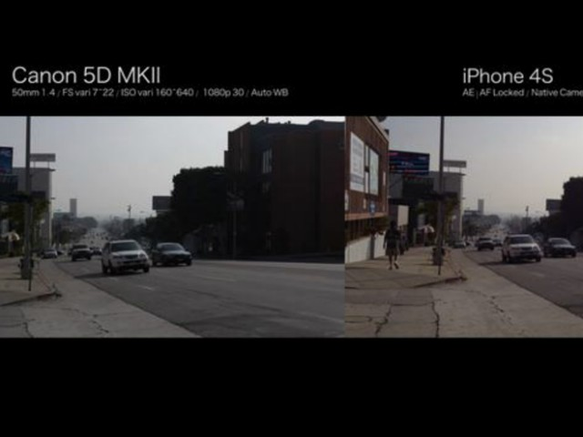 Vidéo : iPhone 4S vs Canon 5D Mark II