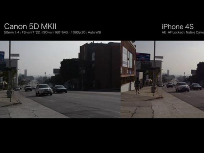Vidéo : iPhone 4S vs Canon 5D Mark II