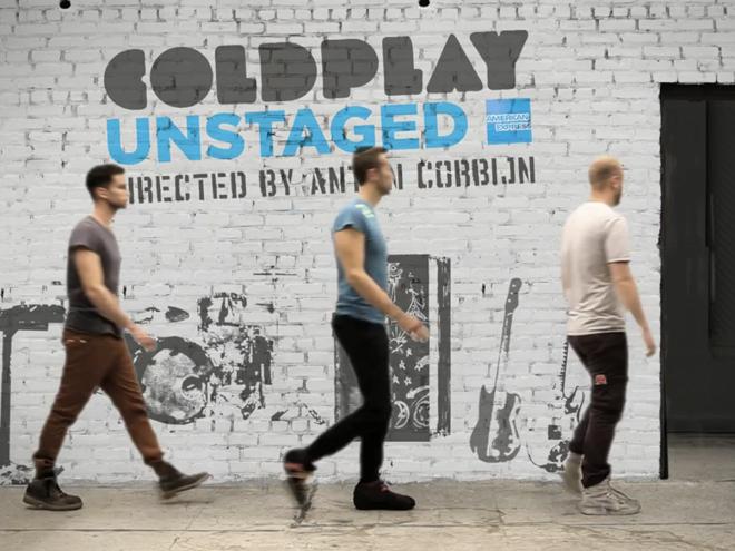 Coldplay en concert live sur YouTube !