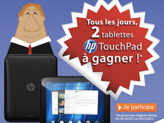 Des tablettes Touchpad 32 Go à gagner chez Rueducommerce !