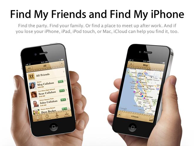 Find My Friends est disponible sur l'AppStore