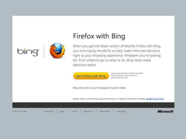 Mozilla : une version de Firefox avec des morceaux de Bing dedans