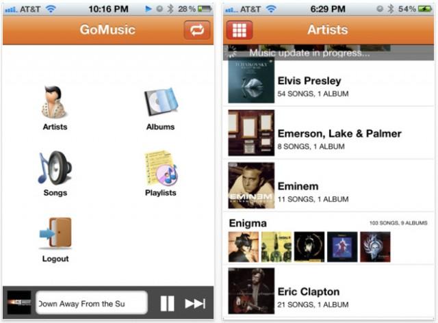 GoMusic, Google Music sur iOS