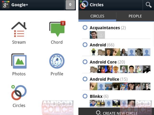 Ice Cream Sandwich : Google+ 2.0 et Google Music 4.0.1