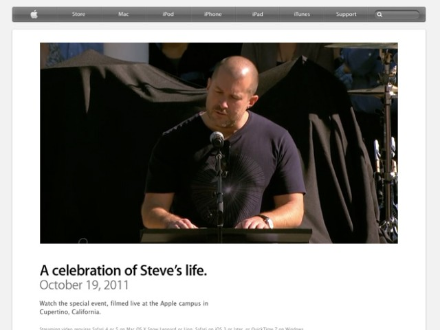 Celebrating Steve, l'hommage à Steve Jobs en vidéo
