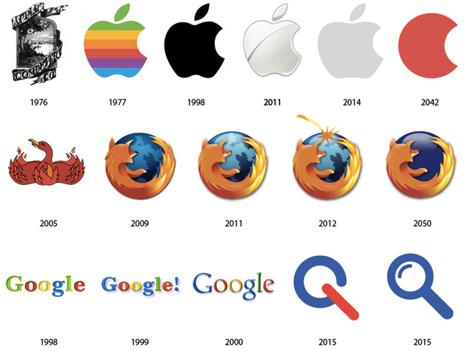 Les futurs logos des grandes firmes