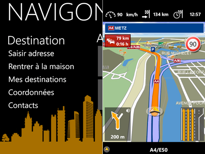 Navigon : un GPS sur Windows Phone 7