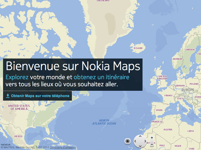 Nokia Maps disponible sur iOS et Android en HTML 5