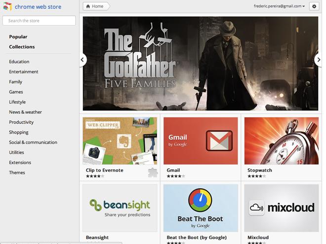Une nouvelle version pour le Chrome Web Store
