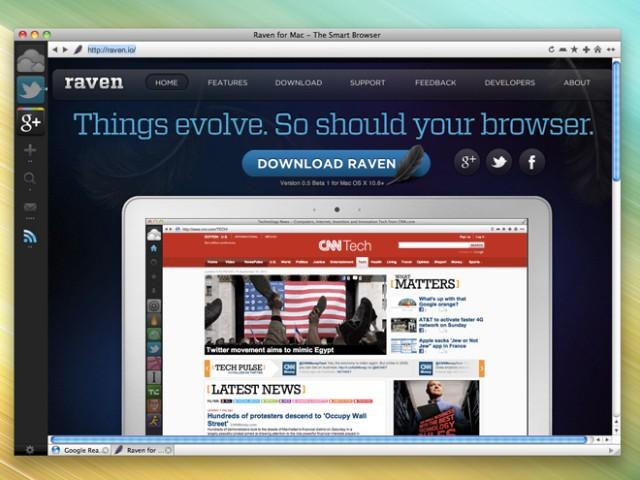 Raven, un navigateur original pour Mac OS