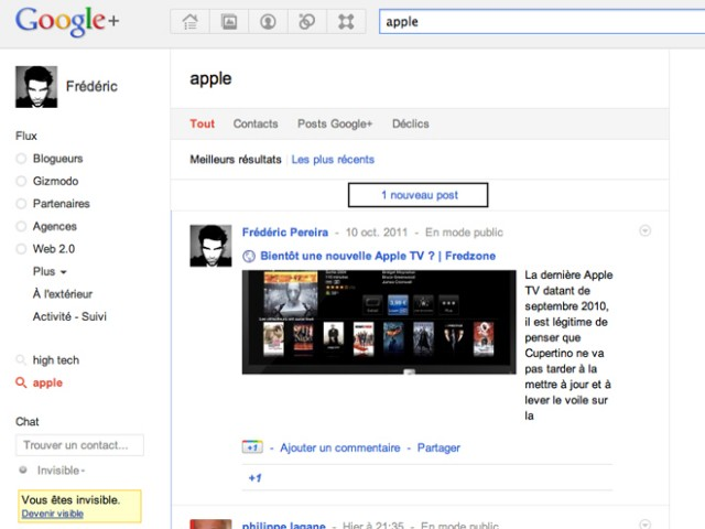 Google+ : recherche en temps réel et hashtags !
