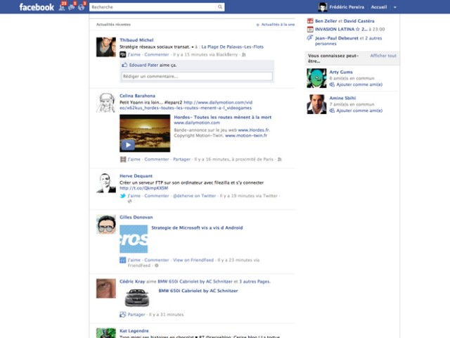 Comment supprimer le Facebook Ticker