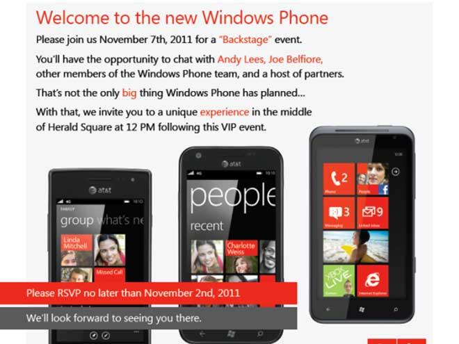 Windows Phone : une nouveauté dévoilée le 7 novembre ?