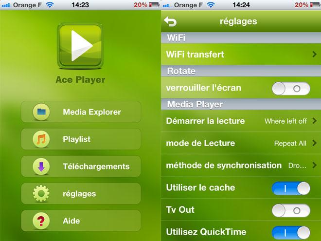 Ace Player, pour lire et streamer des vidéos sur iOS