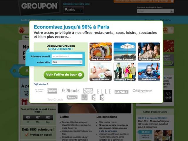 L'action Groupon s'écroule de 15 % en quelques semaines