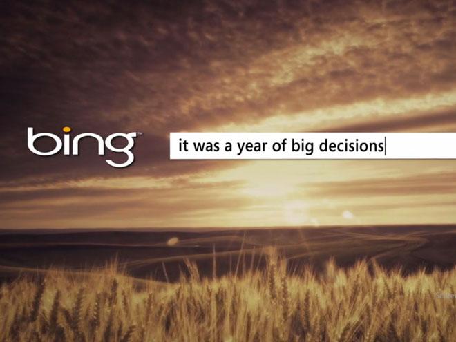 L'année 2011 vue par Bing