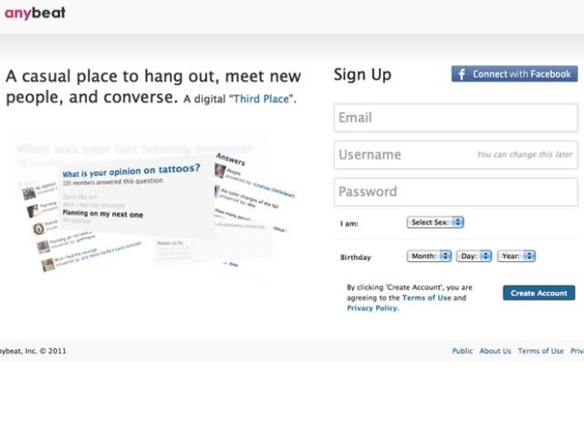 Anybeat, un réseau social pour tout ce qu'on ne dit pas en public