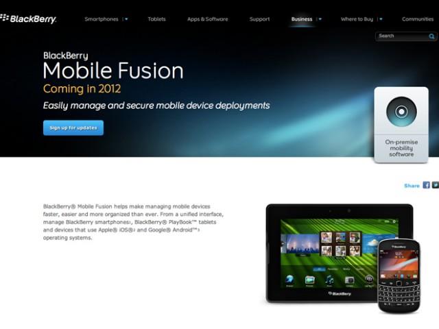 BlackBerry Mobile Fusion, pour administrer des mobiles sous BB OS, Android et iOS