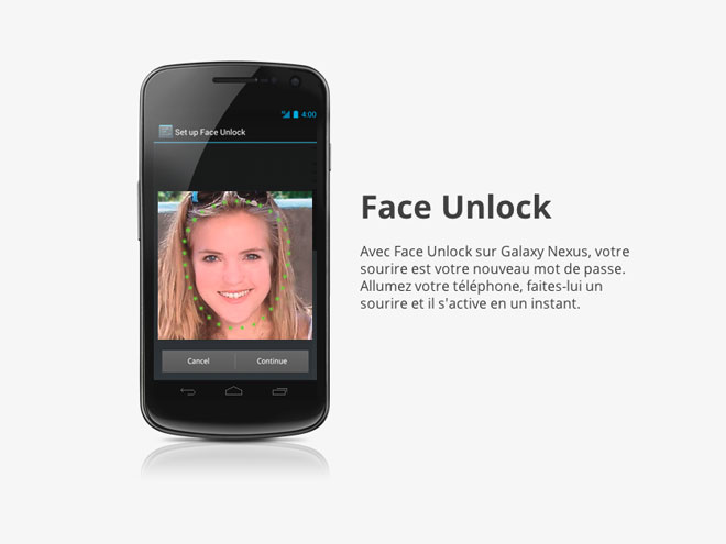 "Ice Cream Sandwich : un petit ""bug"" sur Face Unlock"