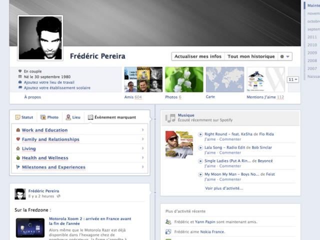 Facebook vous propose d'indiquer les évènements marquants de votre vie