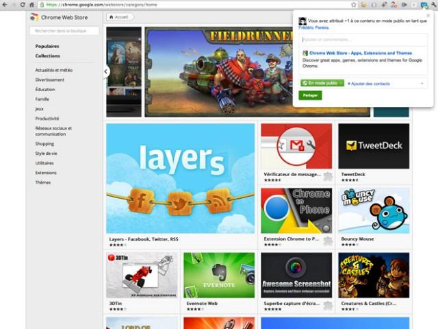 """Google Chrome : des extensions pour les notifications Google+ et pour le bouton """"+1"""""""