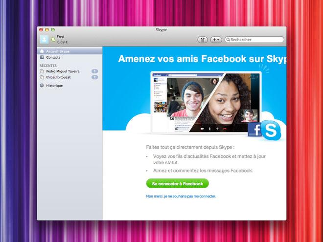Skype intègre maintenant Facebook