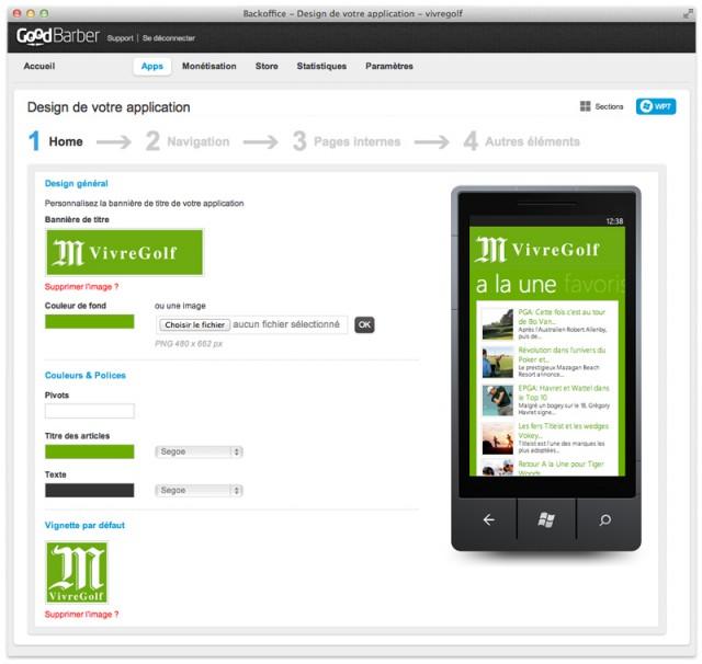 GoodBarber, pour créer son application mobile en un clic