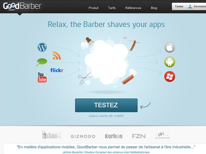GoodBarber, pour créer son application mobile en un clic