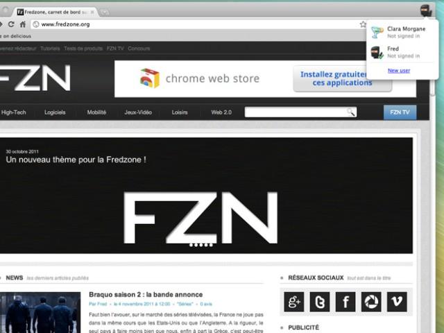 Google Chrome 16 : arrivée de la synchronisation de plusieurs profils