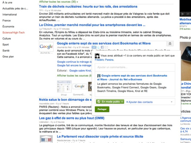 Google Actualités intègre maintenant Google+