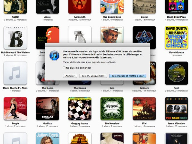 iOS 5.0.1 est disponible