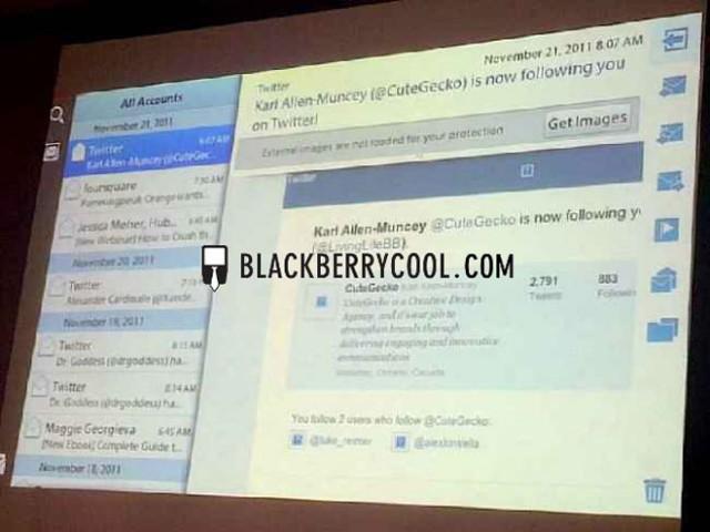 BlackBerry Playbook : les premières photos de l'application mail