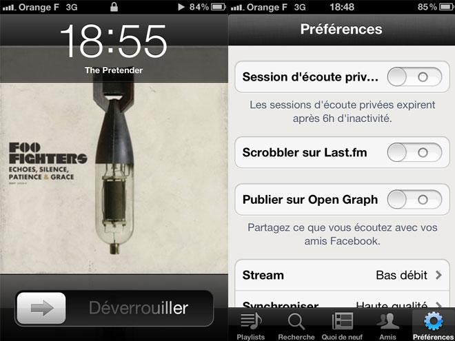 Spotify : une mise à jour sur iOS pour mieux contrôler le partage sur Facebook