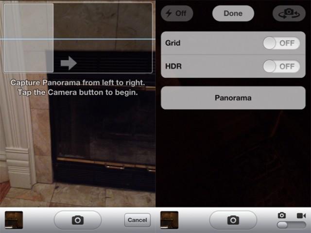 Comment activer le mode Panorama caché dans iOS 5