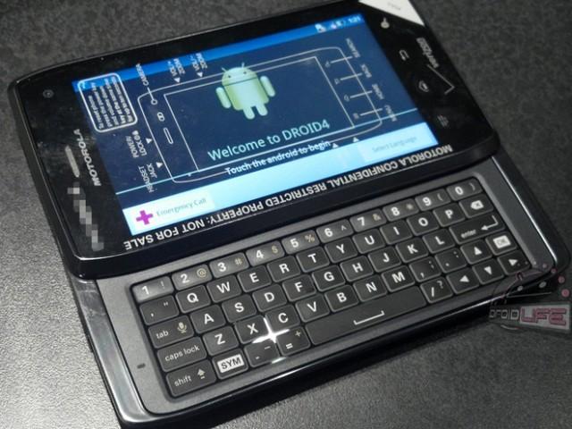 Motorola Droid 4 : arrivée au U.S.A le 8 décembre ?