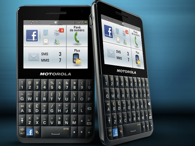 Motorola Motokey, un mobile dédié à Facebook