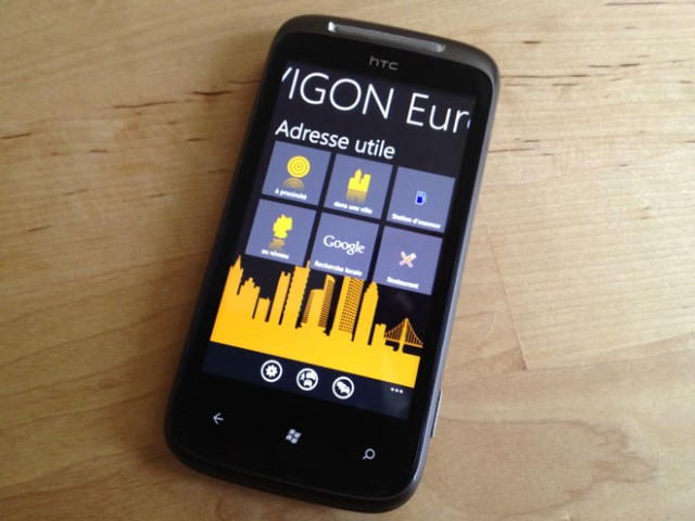 Test : Navigon Europe pour Windows Phone 7