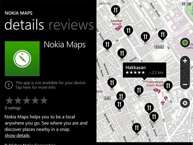 Nokia Maps sera bien disponible sur les autres Windows Phone