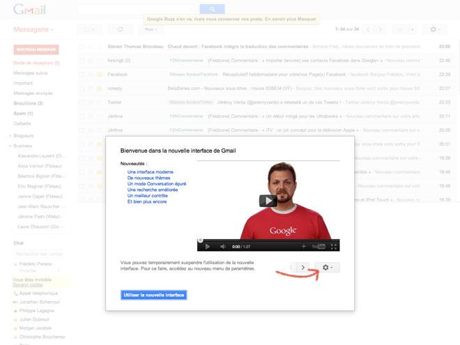 Gmail : la nouvelle version est en ligne !