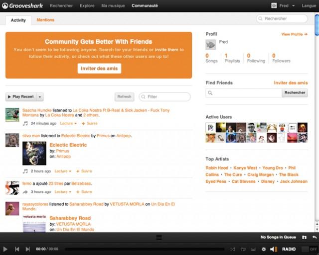 Grooveshark : la nouvelle version est là !