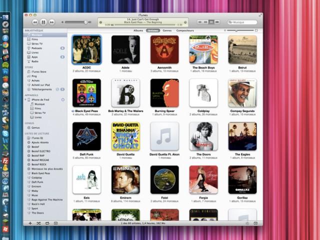 Comment remplacer l'icône de iTunes par la jaquette de l'album en cours de lecture