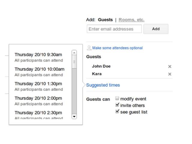 Google Agenda vous suggère maintenant des heures de rendez-vous