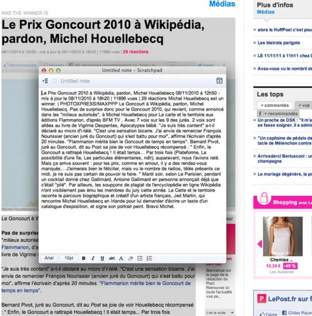 Scratchpad, pour enregistrer des extraits de pages web sur Google Docs